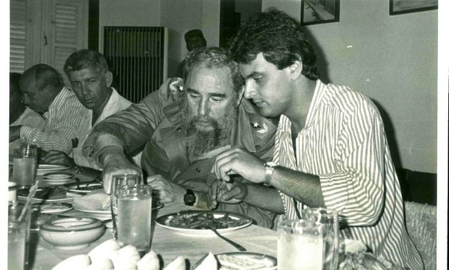 Fidel Castro e Aécio Neves